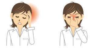 頭痛と眉間の痛みのイラスト