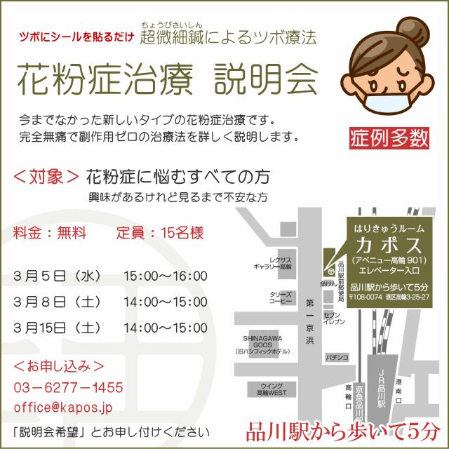 カポス_花粉症治療説明会_2014